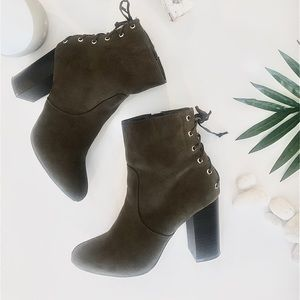 Forever 21 army green booties